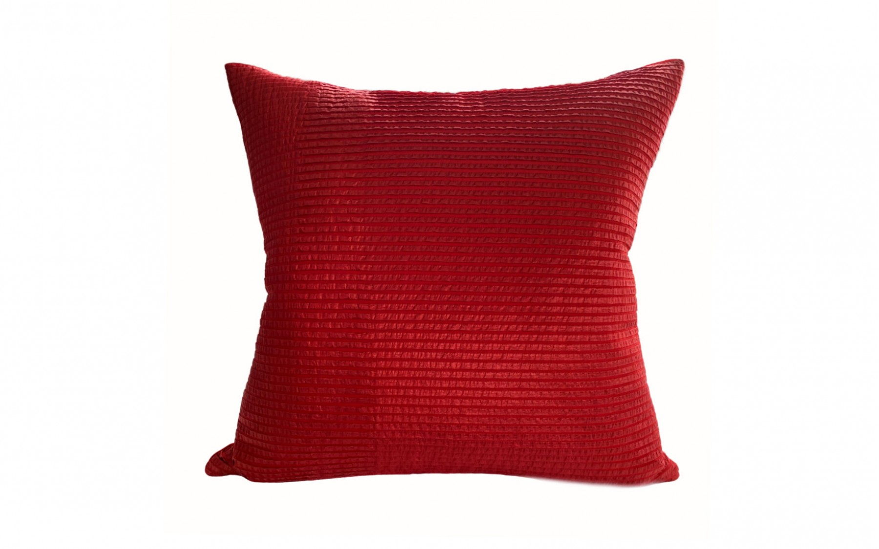 Cushion | Pleated Red Silk